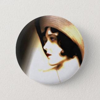 Silent Film Star Vintage 1920s Portrait 2 Inch Round Button