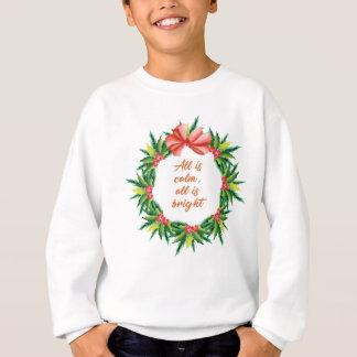 Silent Holy Night Calm Bright Christmas Carol Desi Sweatshirt