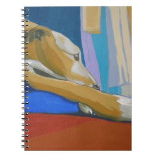 'Silent Longing' - Yellow lurcher Notebook