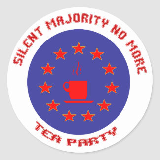 Silent Majority Tea Party Classic Round Sticker