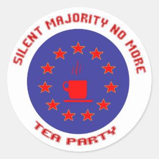 Silent Majority Tea Party Round Sticker