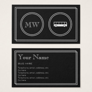 """Silent Movie"" Bus Hire Business Cards"
