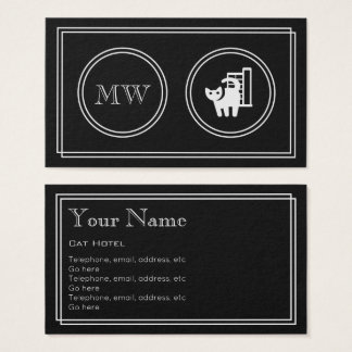"""Silent Movie"" Cat Hotel Business Cards"
