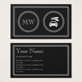 """""""Silent Movie"""" Chauffeur Business Cards"""