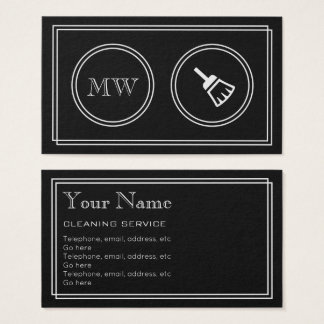 """""""Silent Movie"""" Cleaner Business Cards"""
