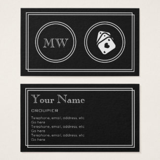 """""""Silent Movie"""" Croupier Business Cards"""