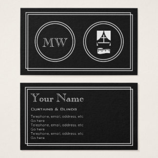 """Silent Movie"" Curtains and Blinds Business Cards"
