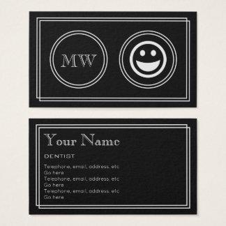 """Silent Movie"" Dentist Business Cards"