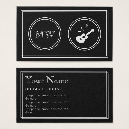 """Silent Movie"" Guitarist Business Cards"