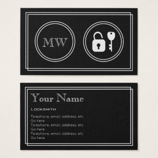 """Silent Movie"" Locksmith Business Cards"