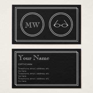 """Silent Movie"" Optician Business Cards"