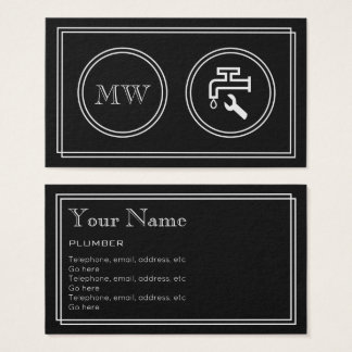 """Silent Movie"" Plumber Business Cards"