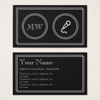 """""""Silent Movie"""" Professional Singer Business Cards"""