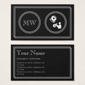 """""""Silent Movie"""" Security Systems Business Cards"""