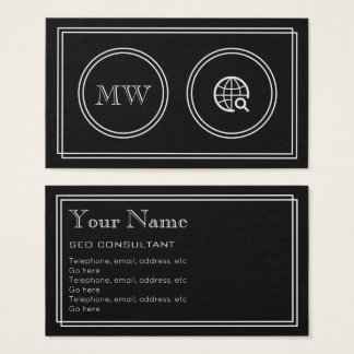 """Silent Movie"" SEO Consultant Business Cards"