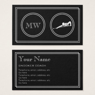 """""""Silent Movie"""" Snooker Business Cards"""