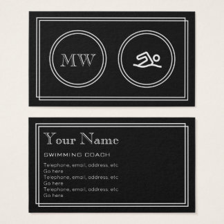 """Silent Movie"" Swimming Instructor Business Cards"