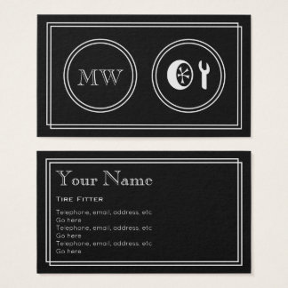 """""""Silent Movie"""" Tire Fitter Business Cards"""