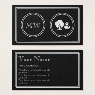 """Silent Movie"" Tree Surgeon Business Cards"