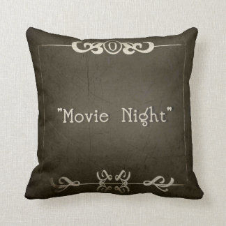 "SILENT MOVIES ""Movie Night"" Throw Pillow"