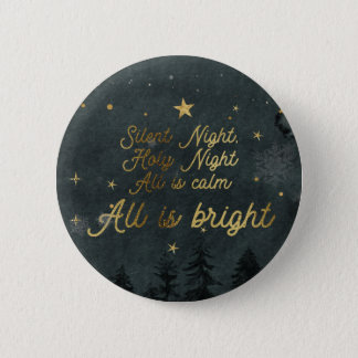 SILENT NIGHT ALL IS BRIGHT Round Button