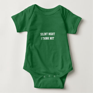 Silent Night Baby Outfit Baby Bodysuit