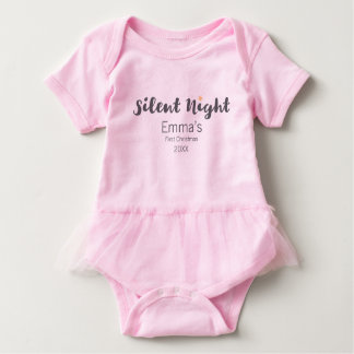 Silent Night, Baby's first, Christmas, Personalize Baby Bodysuit