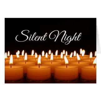 Silent Night Candles Christmas Design Card