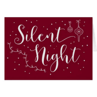 Silent Night Card