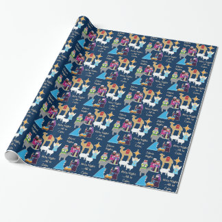Silent Night Christmas Nativity Wrapping Paper
