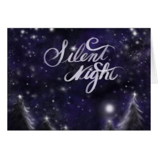 Silent night - Holiday snow scene Card