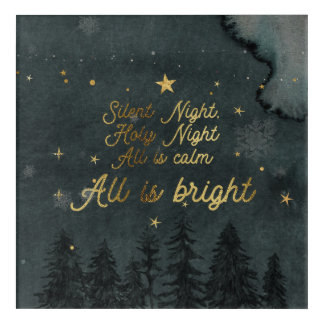 SILENT NIGHT, HOLY NIGHT Acrylic Wall Art