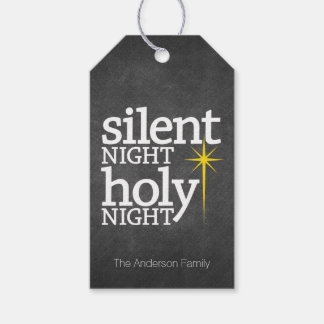 Silent Night Holy Night chalkboard Pack Of Gift Tags