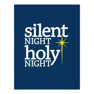 Silent Night Holy Night Customized Letterhead