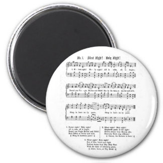 SILENT NIGHT HOLY NIGHT SHEET MUSIC CHRISTMAS SONG FRIDGE MAGNETS