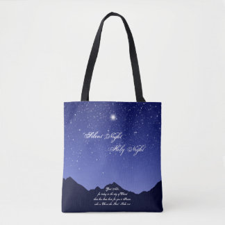 Silent Night, Holy Night Tote Bag