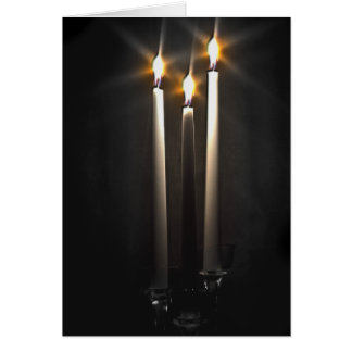 Silent Night Holy Night Trinity Candle Card