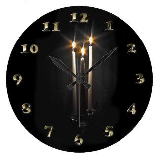 Silent Night Holy Night Trinity Candle Large Clock