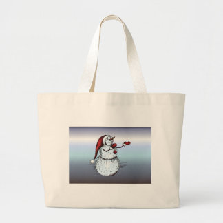 Silent Night Holy Night Trinity Candle Large Tote Bag
