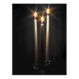 Silent Night Holy Night Trinity Candle Postcard
