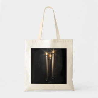Silent Night Holy Night Trinity Candle Tote Bag