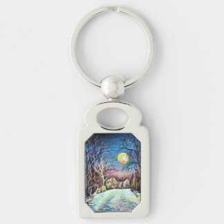 Silent Night in Sweden - realism painting Keychain