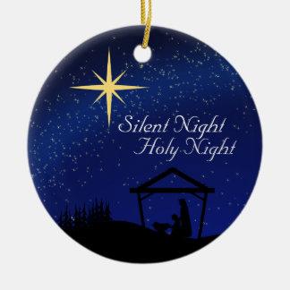 Silent Night, Nativity Custom Christmas Ornament