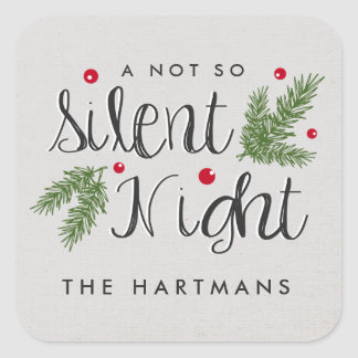 Silent Night | Personalized Holiday Stickers