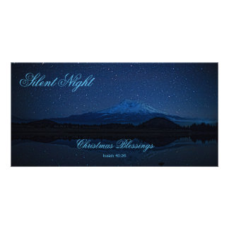 SILENT NIGHT PERSONALIZED PHOTO CARD