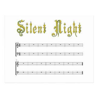 Silent night postcard