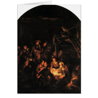 Silent Night - Rembrandt 1640. Card