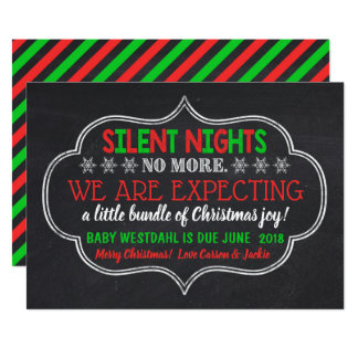 Silent Nights No More Pregnancy Announcement