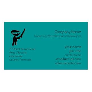 Silent ninja assassin armed and dangerous template business card