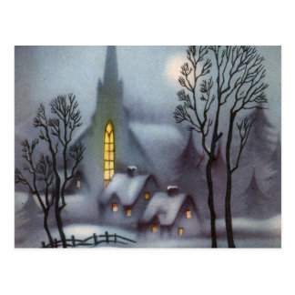 Silent Snowy Night Postcard